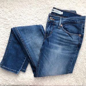 Levi's 524 Skinny Medium Wash Denim Jeans Size 1